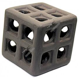 Cube en céramique XXL Brun