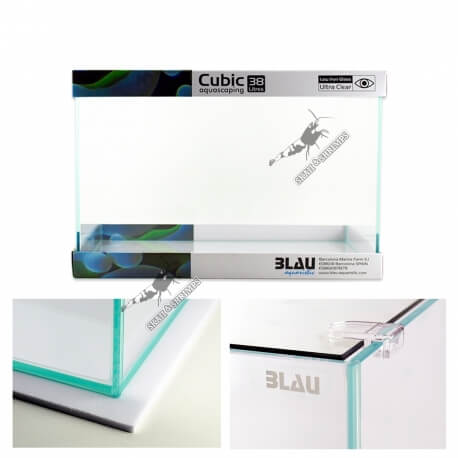 Blau Cubic Aquascaping 45 x 28 x 30 cm (38L) Ultra Clear