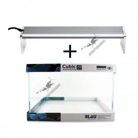 Kit Blau Cubic Aquascaping 40 x 25 x 28 cm (31.5L) + Chihiros A-Serie